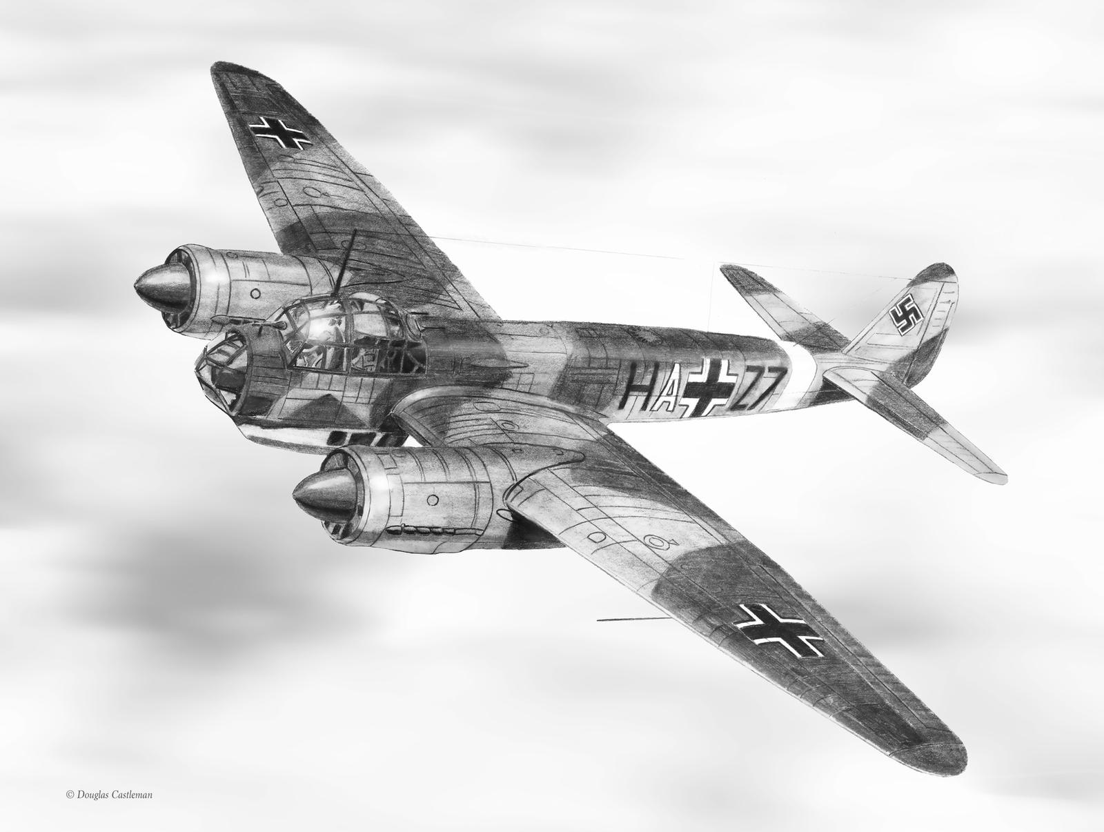 Junkers Ju-88A by DouglasCastleman