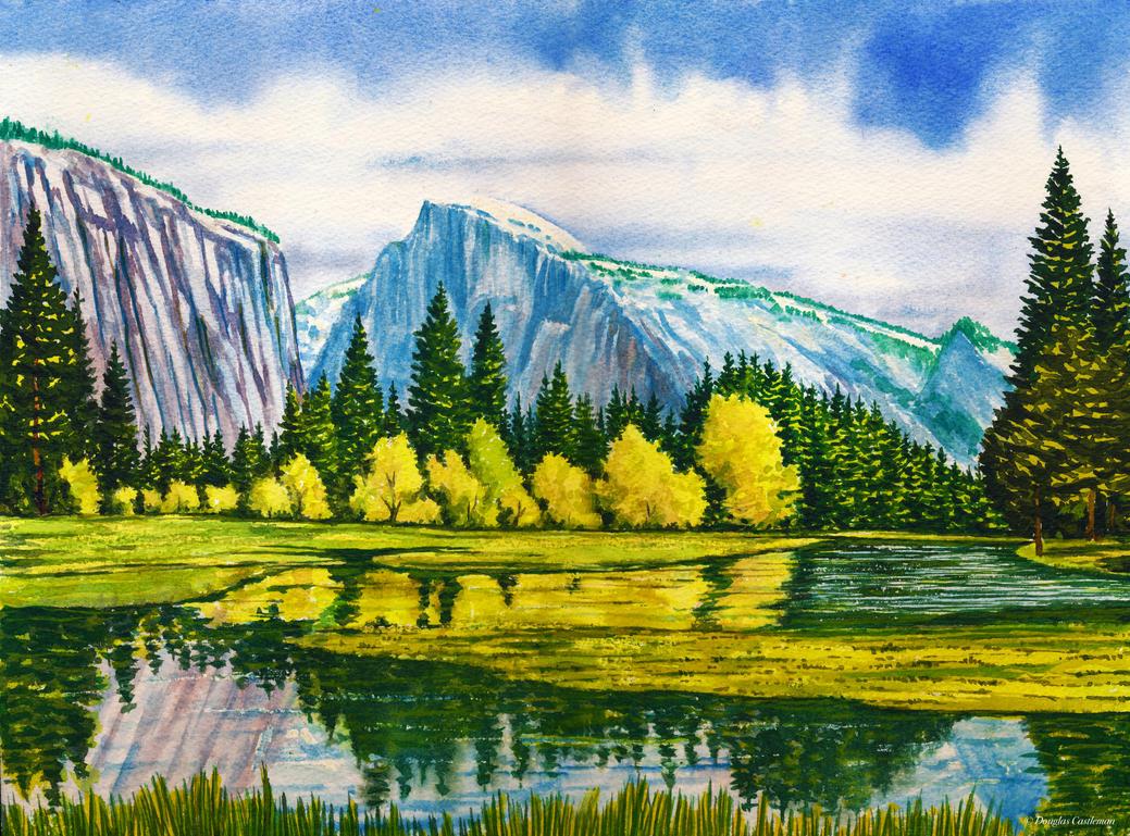 Yosemite Reflections by DouglasCastleman