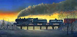 Locomotive in Winter