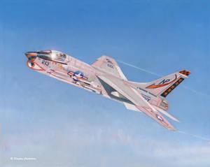 Vought F-8J Crusader of VF-24