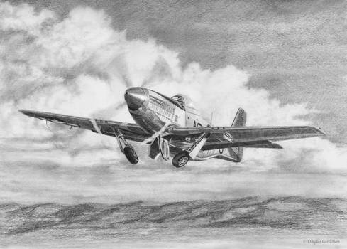 North American P-51 Mustang Take Off