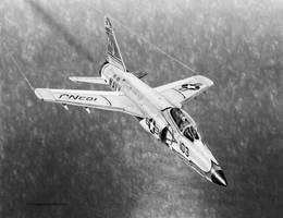 Grumman F11F Tiger Drawing