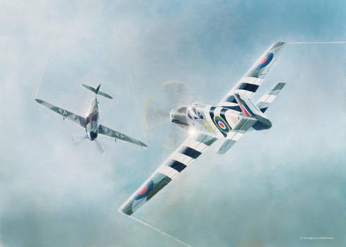 RAF Mustang Mark 3 With Bf 109G