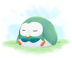 Shiny Rowlet - doodle by UndeadFae