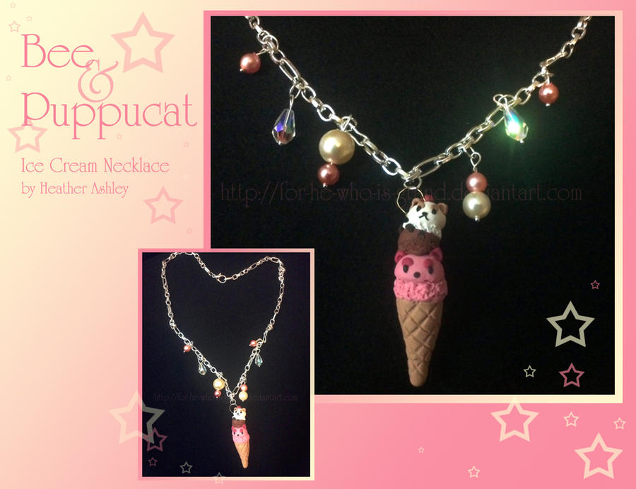 Bee and Puppycat Ice Cream necklace by For-He-who-is-grand
