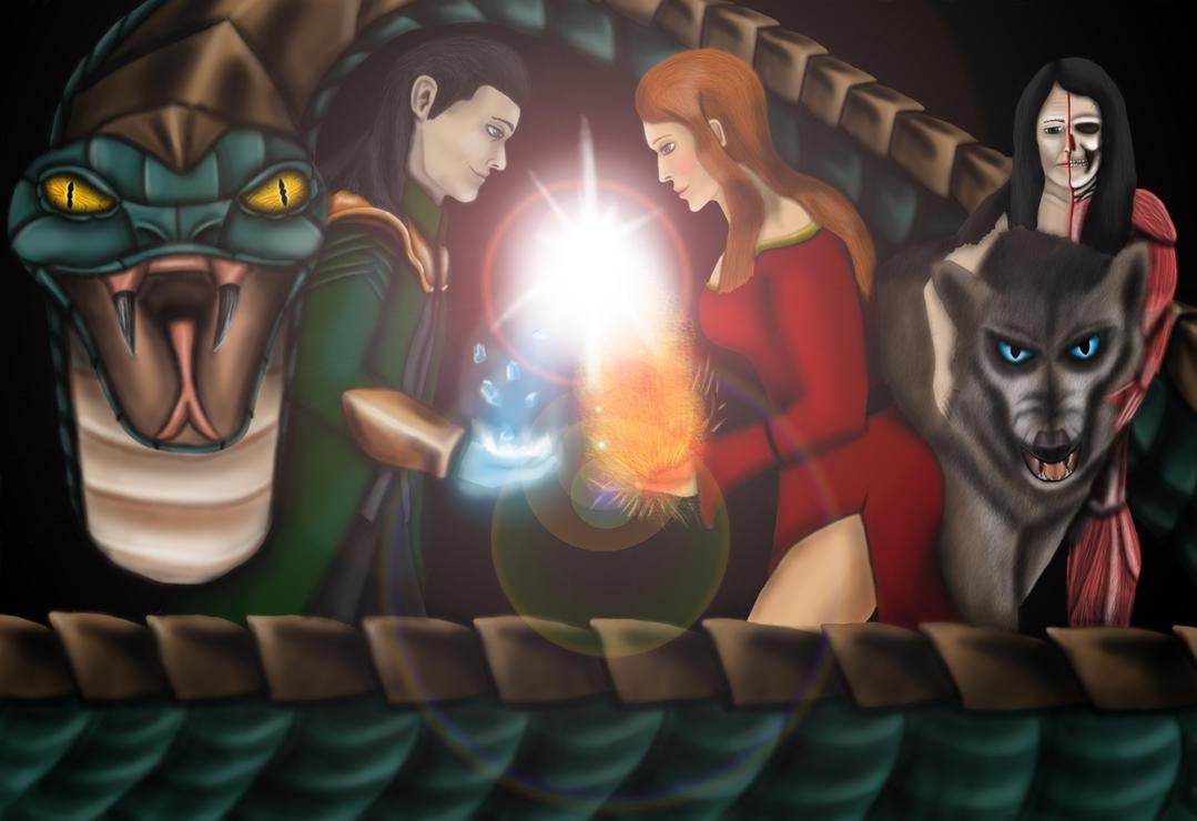 Norse Mythology: Loki's Children by Jed-Stuart on DeviantArt Lokis Children Norse Mythology