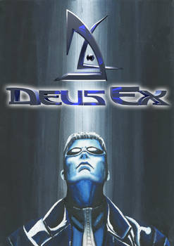 Deus Ex Fanart - Traditionally Painted Cover