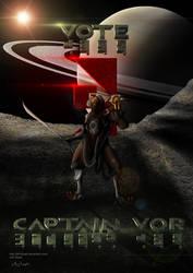 Warframe Election Poster: 2015 - Vote Captain Vor! by Jed-Stuart
