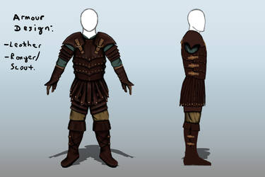 Leather Armour Design - For a Scout or Ranger by Jed-Stuart