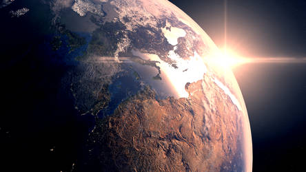 Earth - Blender Cycles by Jed-Stuart