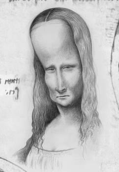 Mona Lisa's Deformed Head