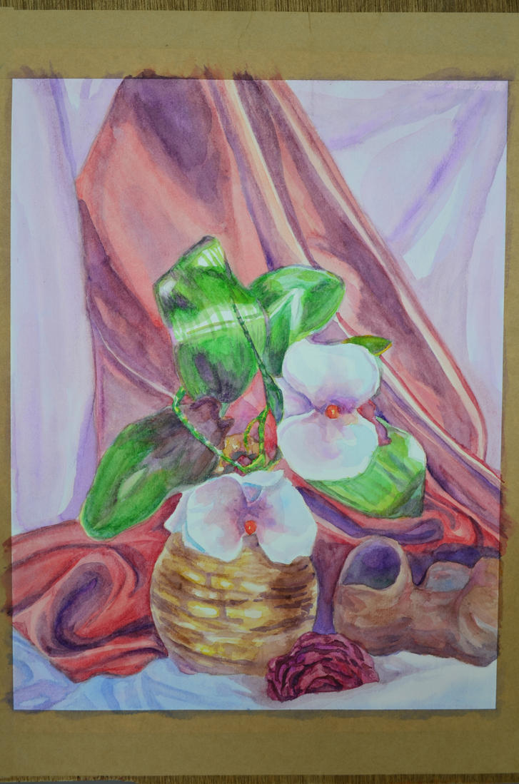 Flowers and a Vase by ArtExCorde