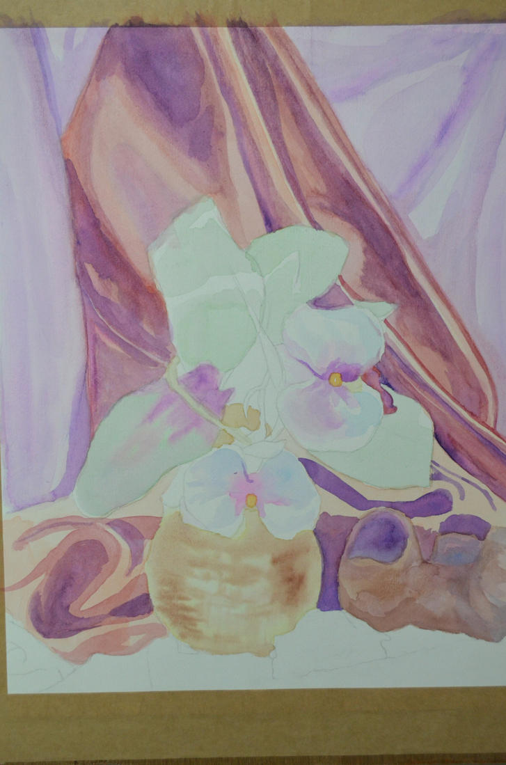 Flowers and a Vase: Progress 2 by ArtExCorde