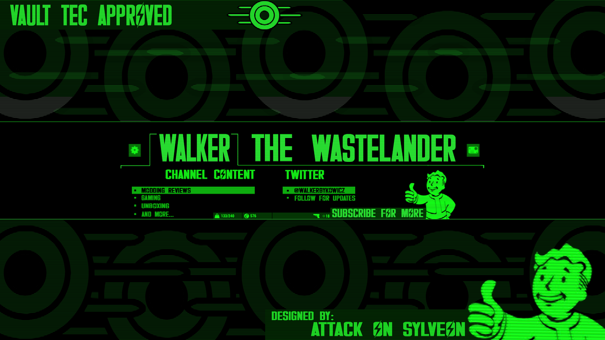 Pip-Boy Inspired Banner Commission by AttackOnSylveon