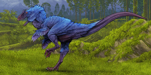 Evosaur art - Final Art - Neovenator by mrXylax