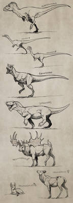 Extinct Sketches Dump 1 by mrXylax