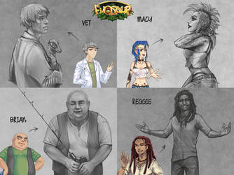 Evosaur: NPC's concept arts! by mrXylax