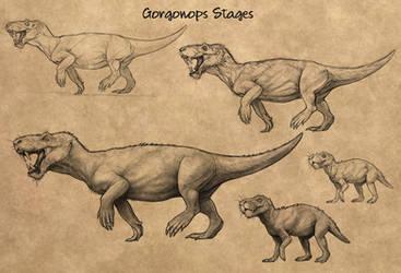 Evosaur art - Concept art - Gorgonops by mrXylax