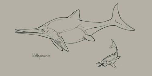 Evosaur: Ichthyosaurus by mrXylax