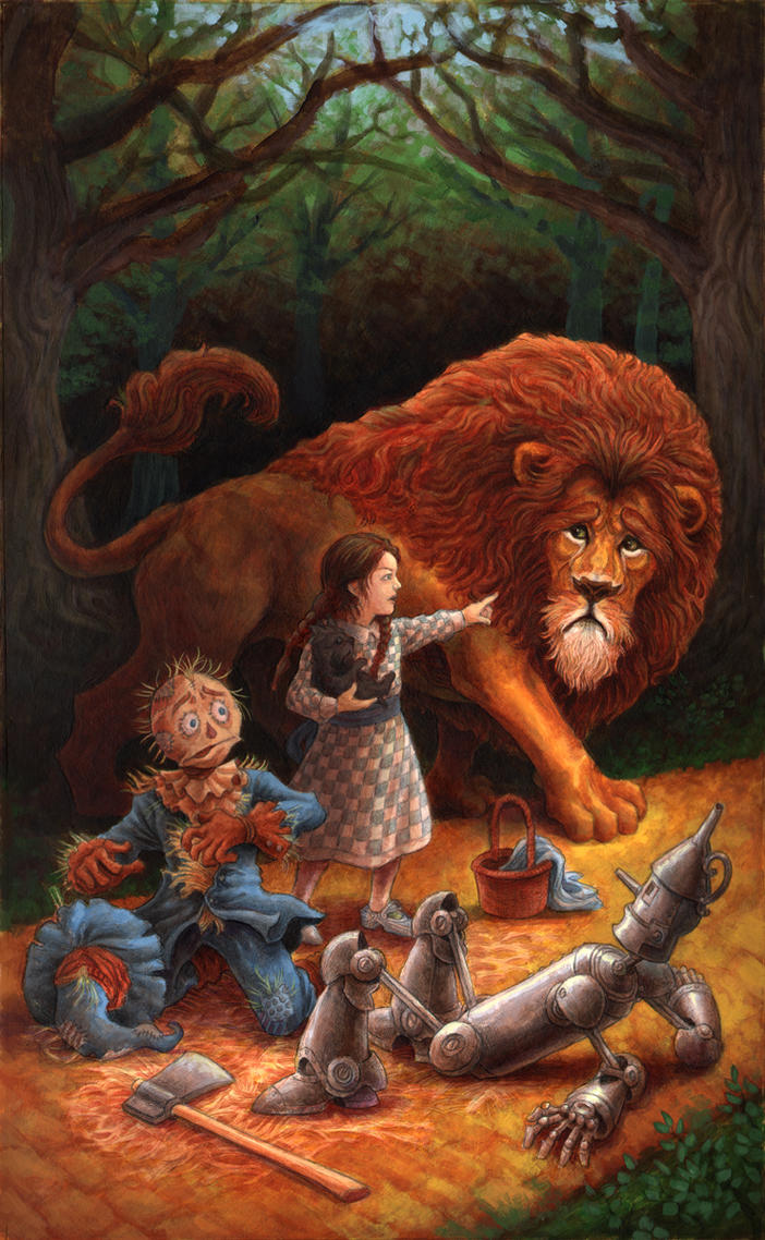 Dorothy and the Lion by GoldenDaniel