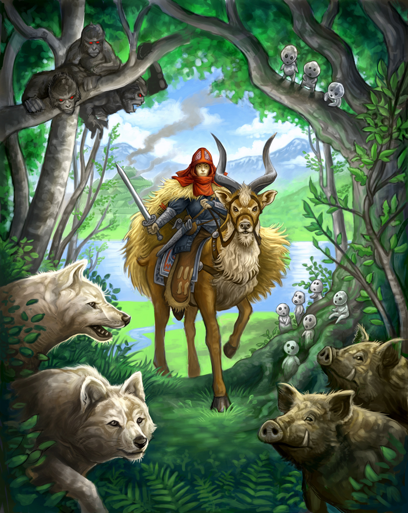 Princess Mononoke By GoldenDaniel On DeviantArt