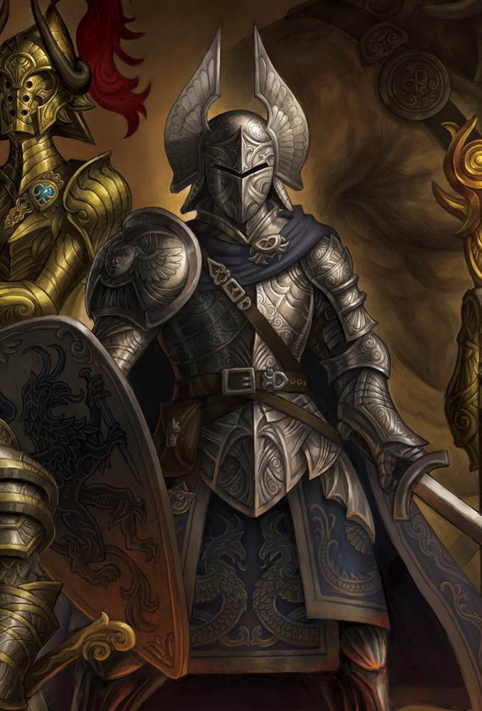 Fantasy Knight Art Heroes- knight design by