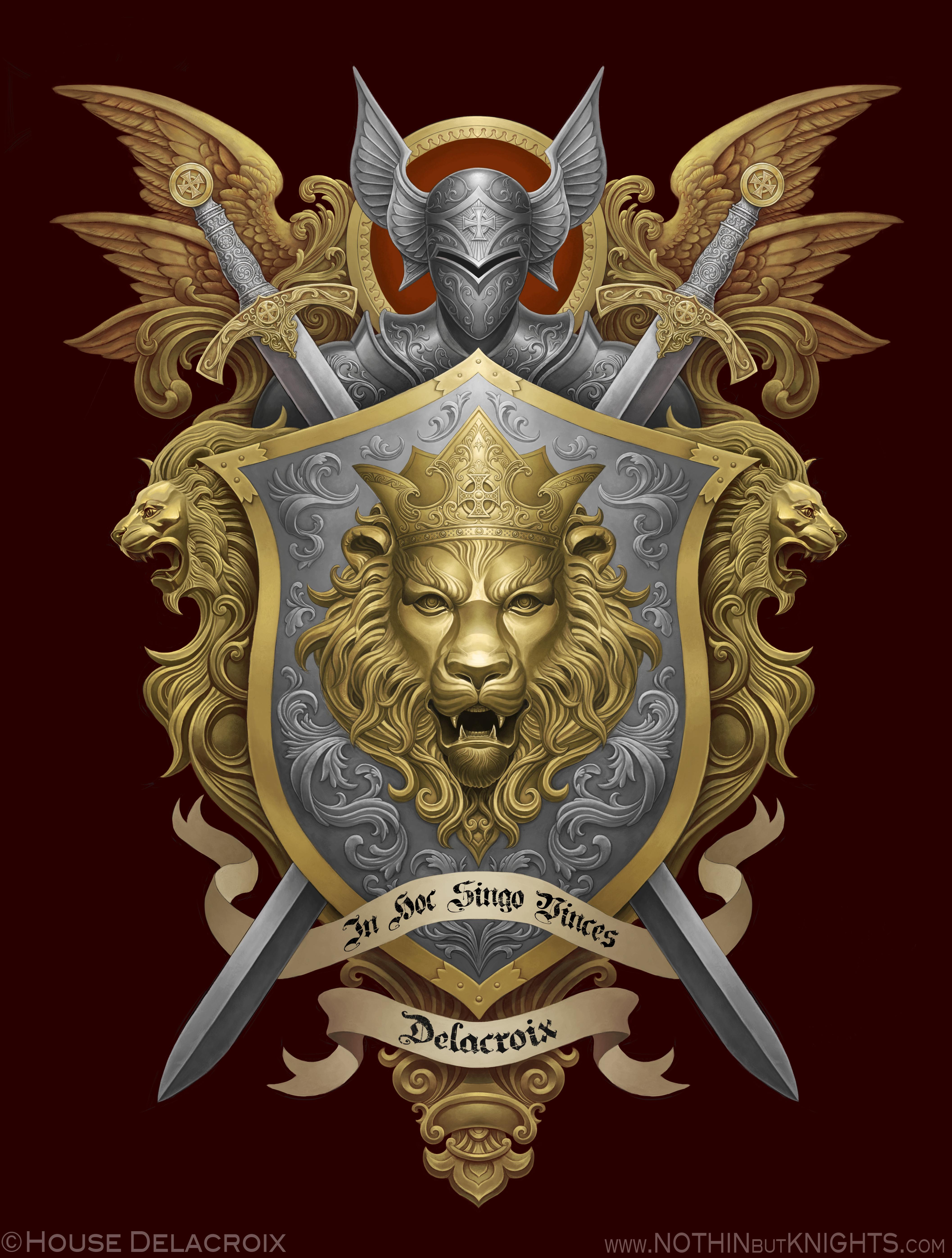 Coat of Arms- Delacroix by GoldenDaniel on DeviantArt