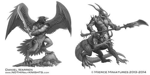 Darklands- Cawdraig Warrior and Gunnhrafn by GoldenDaniel