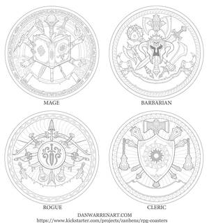 RPG class symbols- set 1