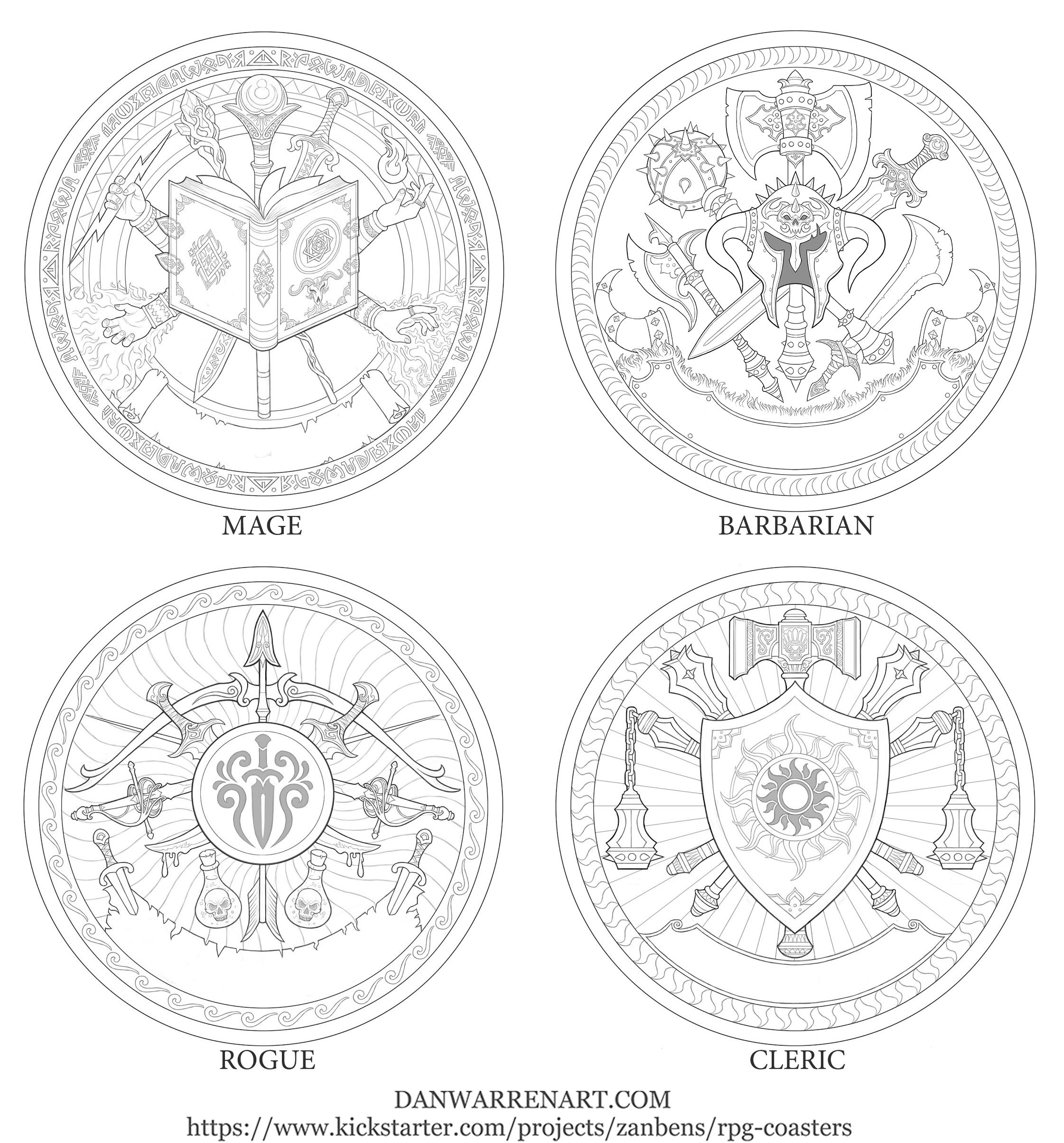 RPG class symbols- set 1 by GoldenDaniel