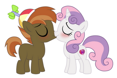 Commision: Botton Mash x Sweetie Belle by SmallBlueTiger