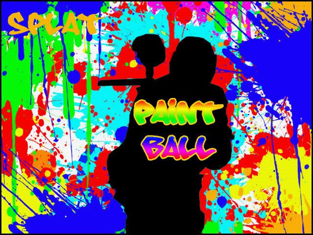 Paintball Splat Wallpaper