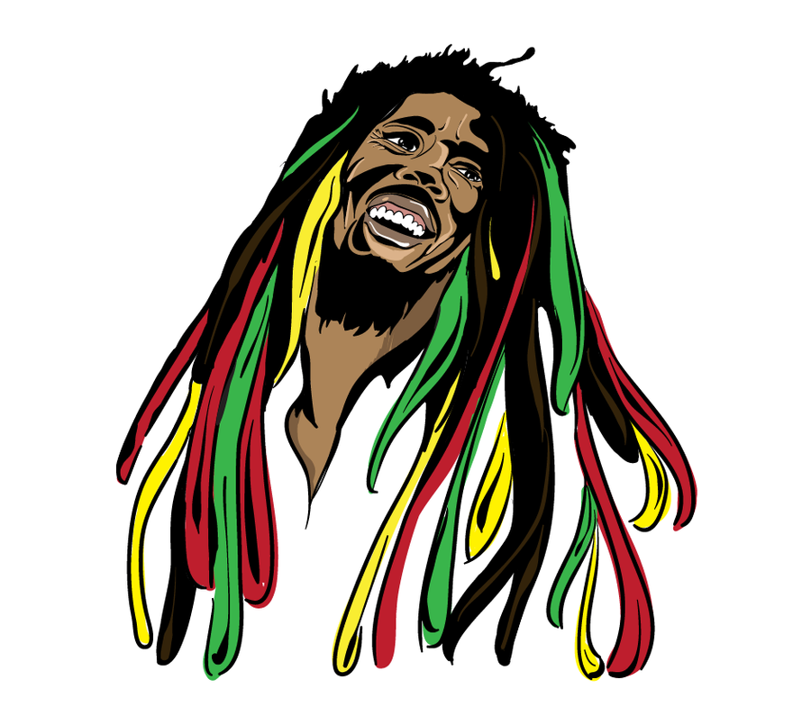 bob marley by jaseighty6 on deviantart rh jaseighty6 deviantart com bob marley clip art free bob marley black and white clipart