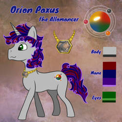 Orion Paxus Reference Sheet
