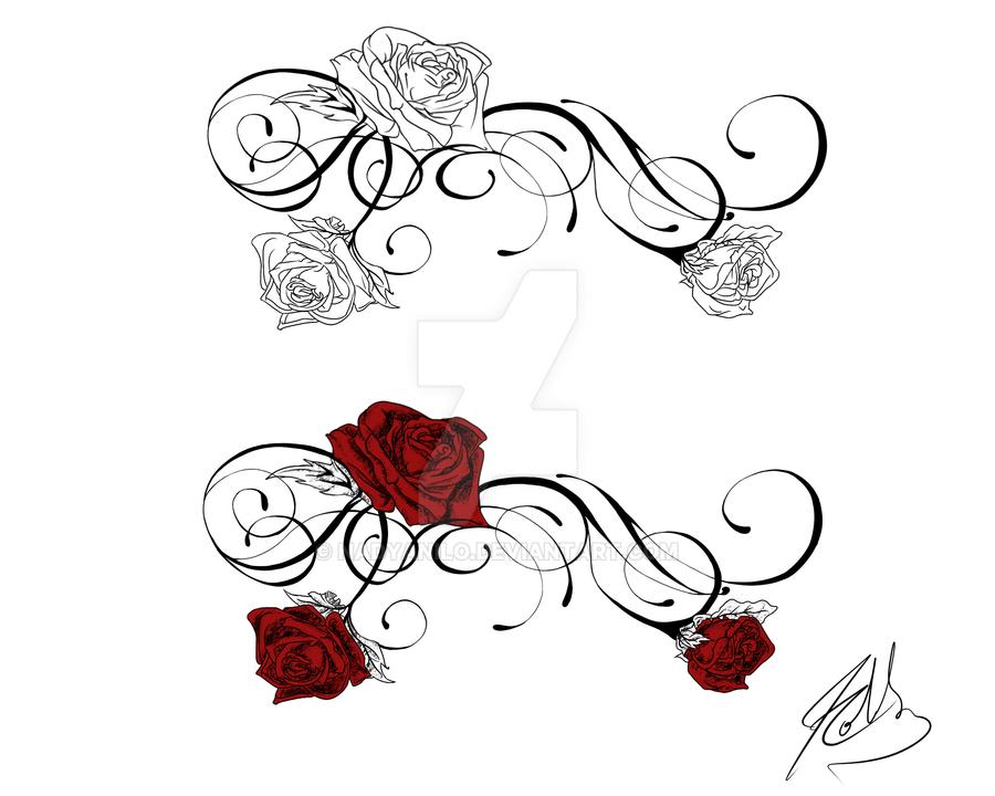 Front Shoulder Rose Tattoo by Nadyanilo on DeviantArt