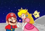 Mini Heart (Mario and Peach on the Moon)