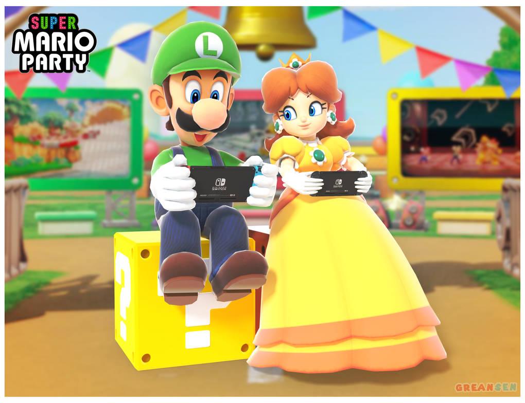 Luigi and Daisy render (Super Mario Party)