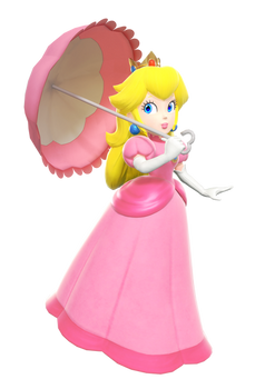 Super Princess Peach 3D render