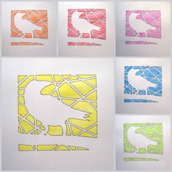 Myna Bird (full set collage)