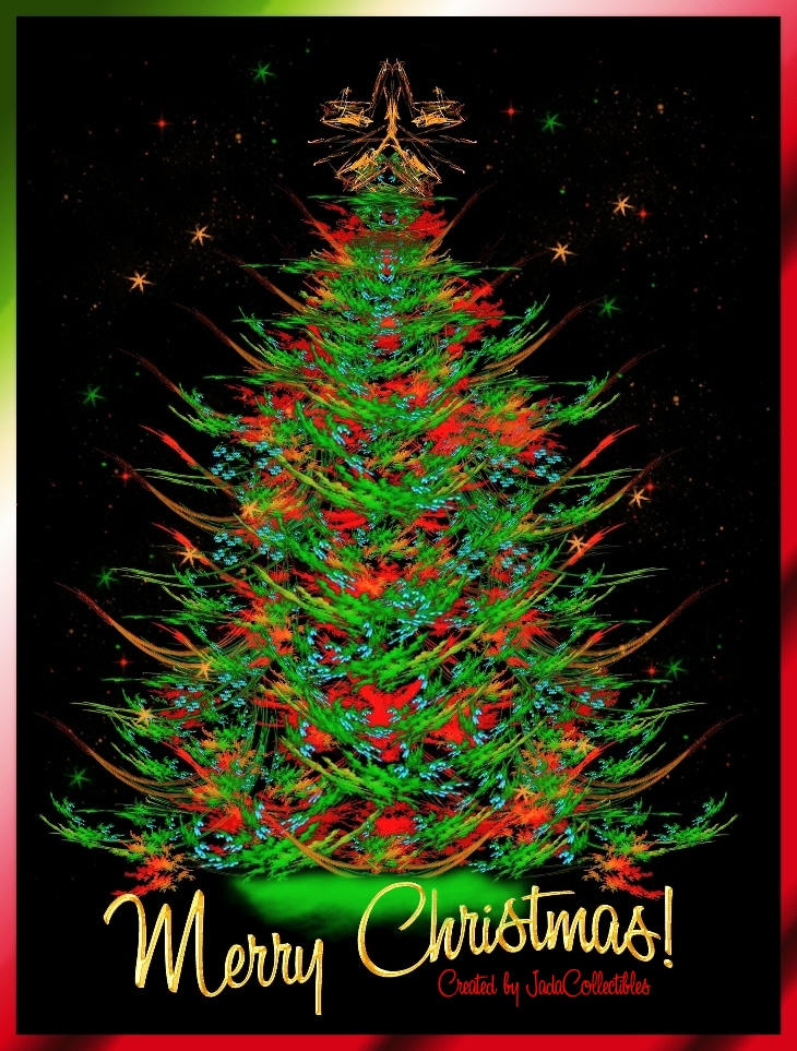 Christmas tree fractal by jadacollectibles on deviantart