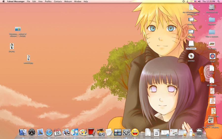 NaruHina Sunset Desktop