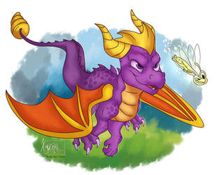 Spyro the Dragon by XyvernArtworks