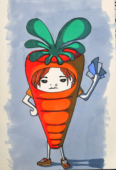 carrot suit by reelphine