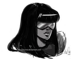 Steven Universe-Garnet sketch by CanvasBunne