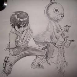 Rock Lee and Kuma by Jonox