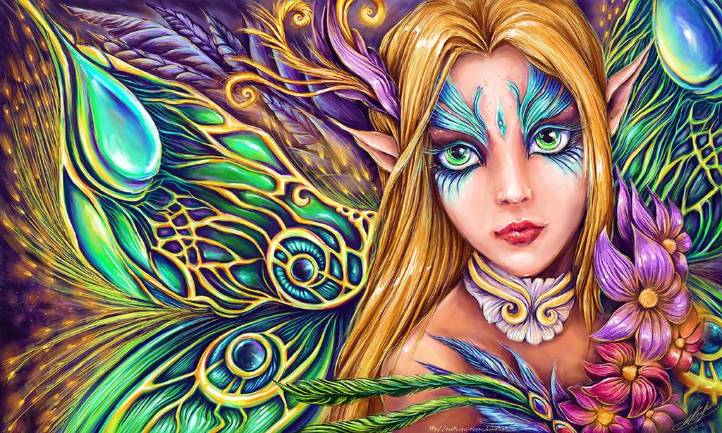 Elf priestess Vasiliki by Manticora-Miorro