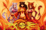 Amber dragon by Manticora-Miorro