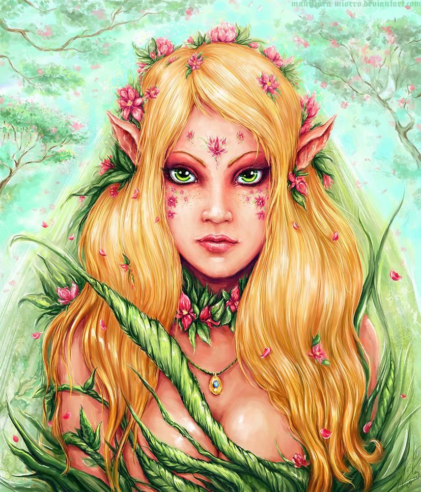 Elven lady by Manticora-Miorro