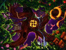 magic tree by Manticora-Miorro