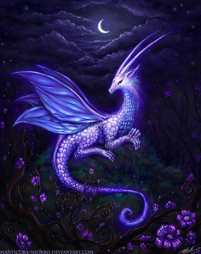 lunar dragon by Manticora-Miorro